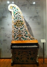 A Giraffe piano, Czech, 19th century, in Prague's Museum of Music. Photo: GK