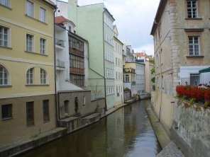 The Čertovka canal, small waterway separating Kampa island from Prague's Lesser Town (Malá strana). The bridge from which the photo was taken leads to the so-called Lennon Wall, during Communism one of the few places of (secret) public protest. Photo: GK