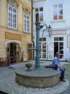 Quiet moments at the old well in Ungelt courtyard, right behind Tyn Church and Old Town Square. It dates back to the 12th century as a place, where merchants from abroad had to pay customs for the goods they brought to the city. Tips: Enjoy a cup of coffee or a snack off the crowds at friendly Modrý orel (Blue eagle) café there and get some natural cosmetics, oils or teas at Botanicus, right opposite. Photo: GK